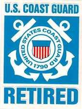 Coast Guard Retired Decal Sticker