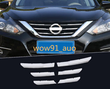 For 2016 2017 2018 Nissan Altima Stainless Front Grille Decorative Cover Trim 6X