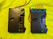 2 Anton Bauer Compatible Gold Mount Battery Camera Plate for Cameras Monitors