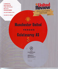 MANCHESTER UNITED v GALATASARAY AS 19 SEPT 2012 COLLECTORS EDIT CHAMP LGE VGC