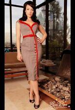 Dixiefried by Pinup Couture Houndstooth Sexy Secretary Rockabilly Dress XXS - XS