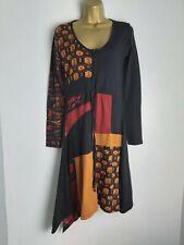 Joe Browns Dress - black/orange- long sleeves - size 12