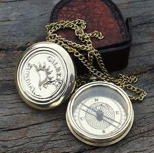 Antique Gilbert & Sons Flat Compass Brass Compass Nautical Compass W/Case Gift