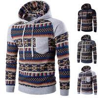 Winter Men's Long Sleeve Hoodie Hooded Sweatshirt Tops Jacket Coat Outwear