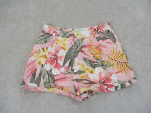 Joie Shorts Womens Size 4 Pink Green Floral Linen Short Chino Casual Ladies