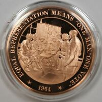 Bronze Proof Medal Equal Representation Means One Man One Vote1964
