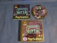 critical depth  PlayStation PS1 PSX boxed W/ manual PAL UK game