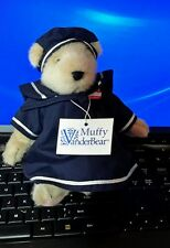 Muffy Vanderbear Blue dress Sailor Bear with hat and tag