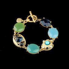 Bracelet Vert Bleu Ovale l`été Vintage Style Original Soirée Mariage Cadeau CT5