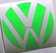 Emblem esquinas verde flúor atrás VW Golf 6 VI GTI GTD Turbo R lámina logotipo Heck