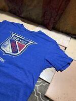 NY New York Rangers t-shirt - NHL CCM Size L Large Blue Red Graphic