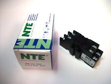 NTE Relay Socket R95-121 - 8−Pin Midget Blade Socket - Panel/Surface/DIN Rail