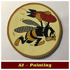 WW2 Hand Painted 21st Bomb Squadron Leather Patch For A2 Jacket