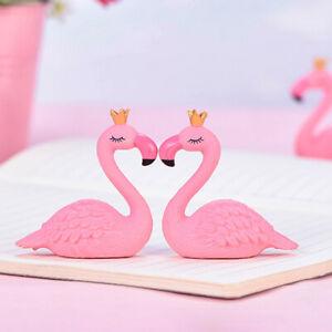 Crown Flamingo Miniature Landscape DIY Bonsai Pink Decorative Arts AccessoryJZ9