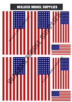 1/16 scale WW2 American flags on 100% cotton canvas.model/diorama military set 1