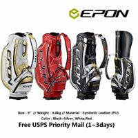 Epon Golf Tour Caddie Bag 9.5inch White Red Black Free USPS Priority Mail
