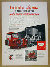 1956 Whiting Trackmobile Railcar Mover photo vintage print Ad
