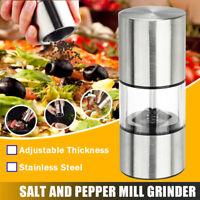 Edelstahl Glaskörper Salzmühle Pfeffermühle Chili Gewürz Mühle Küchen Zubehör