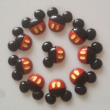 10 pcs Resin Mickey Mouse w/ Dress Mouse Flatback Hair Bow Center Crafts DIY BIN