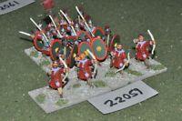 25mm roman era late roman legionaries 16 figures infantry {3} (22059)