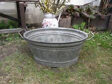 Kleine niedliche Zinkwanne oval Pflanzkübel Gartenteich, Blumentopf, shabby