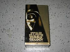 Vintage Star Wars Special Edition Trilogy VHS Gold Box Set Nice