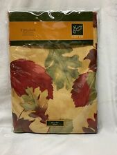 NWT Fall Maple Leaves Tablecloth 60 X 84 Fabric Thanksgiving Autumn
