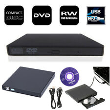 USB2.0 External DVD ROM Player Reader CD±RW Burner Drive w/ Cables for PC Laptop