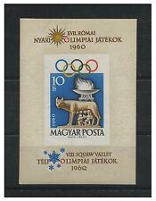 Ungarn 1960 postfrisch MiNr. Block 30B  Oly. Spiele, Squaw Valley und Rom