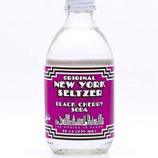 Original New York Seltzer Black Cherry Soda, 10-Ounce Glass Bottles (Pack of 12)