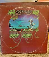 Record Yes Yessongs  sd 3-100 3 album set ATLANTIC 1973 vinyl is VG+ cover is G