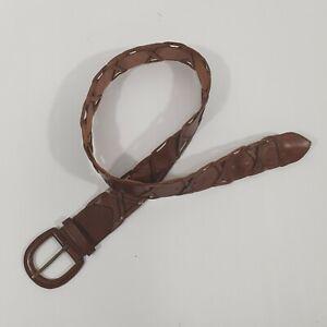 Unbranded Brown Cross Plait Belt Sz M/L