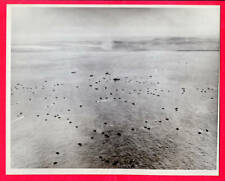1944 1st Waves of USMC Marine Landing Craft at Tinian 7x9 Original News Photo