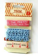 Prima Marketing EN FRANCAIS Twill Ribbons and Lace Trim 3 yards Scrapbook 554941