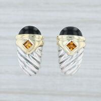 Yurman Renaissance Onyx Chalcedony Citrine Earrings Sterling Silver 14k Gold