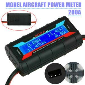 200A LCD Digital High-precision Amp Watt Meter RC Battery Solar Power Analyser j