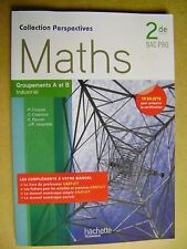 Livre Maths 2 de BAC PRO groupements A et B  industriel 15 sujets  /A24