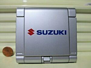 Really Nice SUZUKI Battery Powered Silver Color Plastic FOLDING CALCULATOR Mint