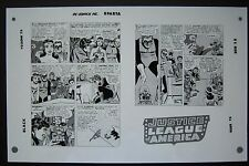 Org. Production Art JUSTICE LEAGUE OF AMERICA #14, pages 24 & 25, MIKE SEKOWSKY