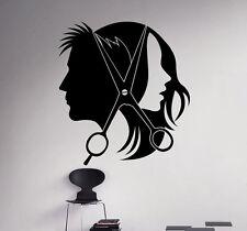 Hair Salon Wall Decal Vinyl Sticker Barber Shop Interior Window Decor 20(nse)