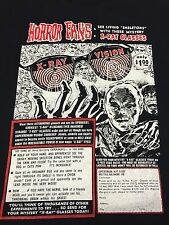 X-Ray Vision Glasses Medium T-Shirt Funny Horror Fans Comic Book Superhuman