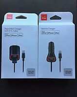 Verizon OEM Home,Car Charger Lightning USB Cable For iPhone XS X,8,8+.7,6s Plus