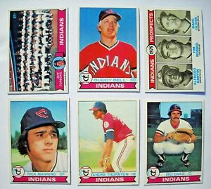 1979 Topps Cleveland Indians Team Set (29 Cards)