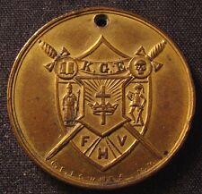 GILT MEDAL FOB - 1888 CONVOCATION..SUPREME CASTLE OF KNIGHTS OF THE GOLDEN EAGLE