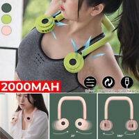Portable Bladeless Mini Fan Neckband Lazy Neck Hanging Cooler USB Rechargeable a