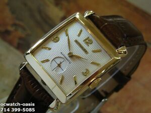 1950's Vintage Wittnauer, Stunning Silver Dial, Serviced & Warranty