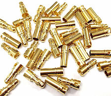 Hot 80 Pcs 3.5mm Gold-plated Bullet Banana Plug Connector RC Battery Male&Female