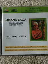 SUSANA BACA DEL FUEGO Y DEL AGUA LATIN AFRO PERUBIAN AUDIO CD