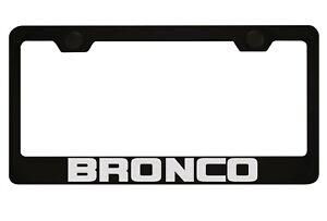 Ford Bronco Black License Plate Frame