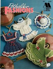 Annie's Attic Crochet Pattern Book POTHOLDER FASHIONS 351 by Annie Potter